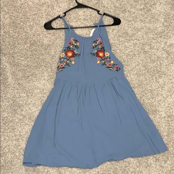 Lush Dresses & Skirts - Blue dress with flowers
